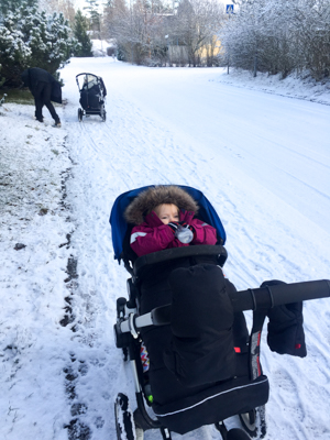 Prams in the Snow