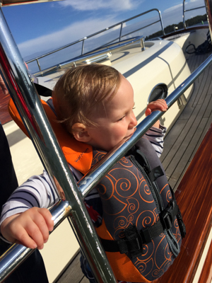 Our little seafarer.