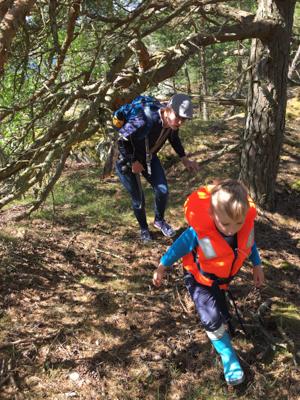 Enjoying a hike around Stenskär