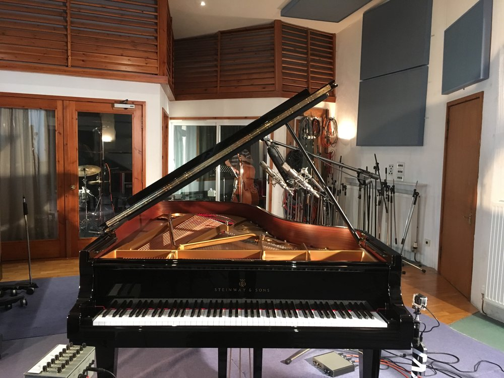 The beautiful Steinway B I played for the second Alan Benzie Trio recording. Huge thanks to Neil Mclean for very generously lending it to us!