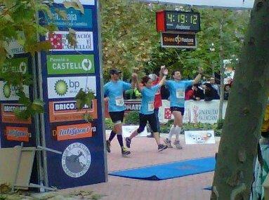 Primer maratón, 4:19 horas,2011