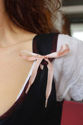 Detail: Ribbon Tie at Front Shoulder Photograph: Robert Lucy, 2015