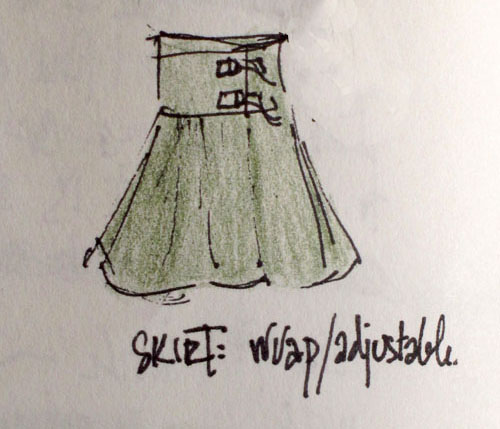 Design for skirt with adjustable yoke