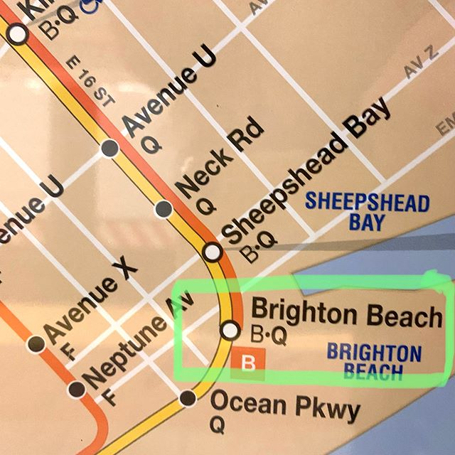 51° and sunny. Brighton Beach. To and fro. (Scroll through.) #subway #instantvacation #whatatown #mta