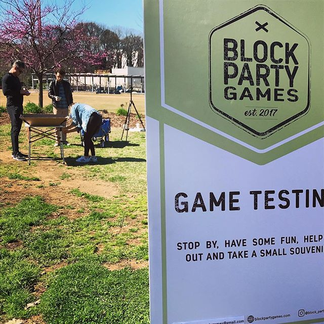 Thank you to everyone who played our game and gave us feedback today on the Beltline. We got some great insights and are excited to get the game into production! @block_party_games . . . #game #gameplay #productdesign #testing #prototype #industrialdesign #boardgame #beltline #atlanta #designstudio @ashleytouchtondesigns @diegoperez1988 @schininis