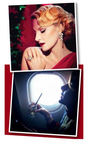 Знімок, на якому Рената Литвинова тримає в руках келих з трубочкою, спочатку був опублікований в «Instagram» актриси. За кадром залишиласькрасива історія: складну трубочку виготовили з платини на замовлення. Вона призначена, щоб пити шампанське в літаку без ризику зіпсувати бездоганну червону помаду, якійЛитвинова залишається вірною протягомбагатьохроків. Для трубочки є спеціальний дорожній оксамитовий кейс, на зразок тих, в якихзберігають коштовності.