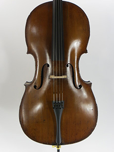 Unlabeled German cello, mid 1800's.  $6500 A truly terrific player with beautiful wood and rich golden amber varnish. Wonderful old complex sound with plentry of focus, this instrument was made on a slightly smaller model but has a big, full sound. There's more. This cello belonged to Calo Scott who was one of , if not the, very first professional jazz cellists ever, and he played it for his entire professional career. Scott and his cello recorded with jazz icons like Mal Waldron, Archie Shepp, Gerry Mulligan and Charlie Rouse to name just a few. He sat in club jam sessions with some of the all-time greats, including Thelonius Monk. Scott retired in 1973 and passed in 1998. This is one of the best playing cellos we've had in our shop in some time, and with it comes an important piece of history. Questions about this instrument? Contact us through this site or call 802-229-1501. Learn More...