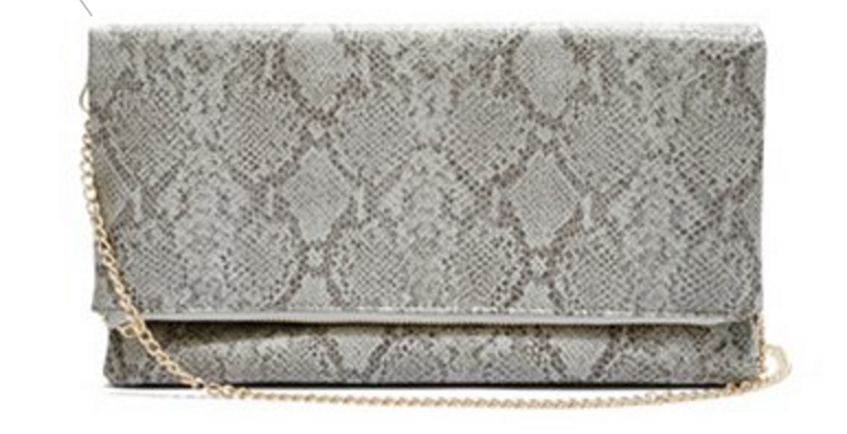 Python-Print Fold-Over Clutch GUESS $45.50