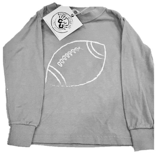 Long Sleeve Grey/White Football Tee  $24