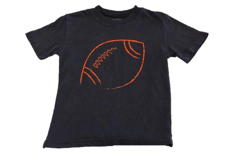 Short Sleeve Navy/Orange Football Tee  $22