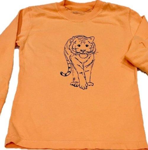 Long Sleeve Orange/Navy Tiger Tee  $24