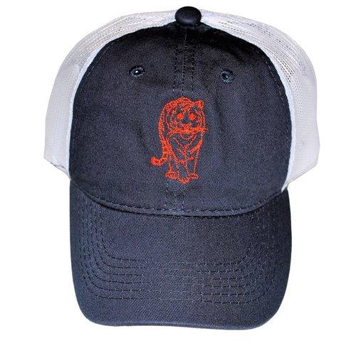 Navy/Orange Tiger Trucker Hat  $20