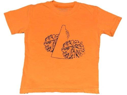 Short Sleeve Orange/Navy Pom Pom Tee  $22