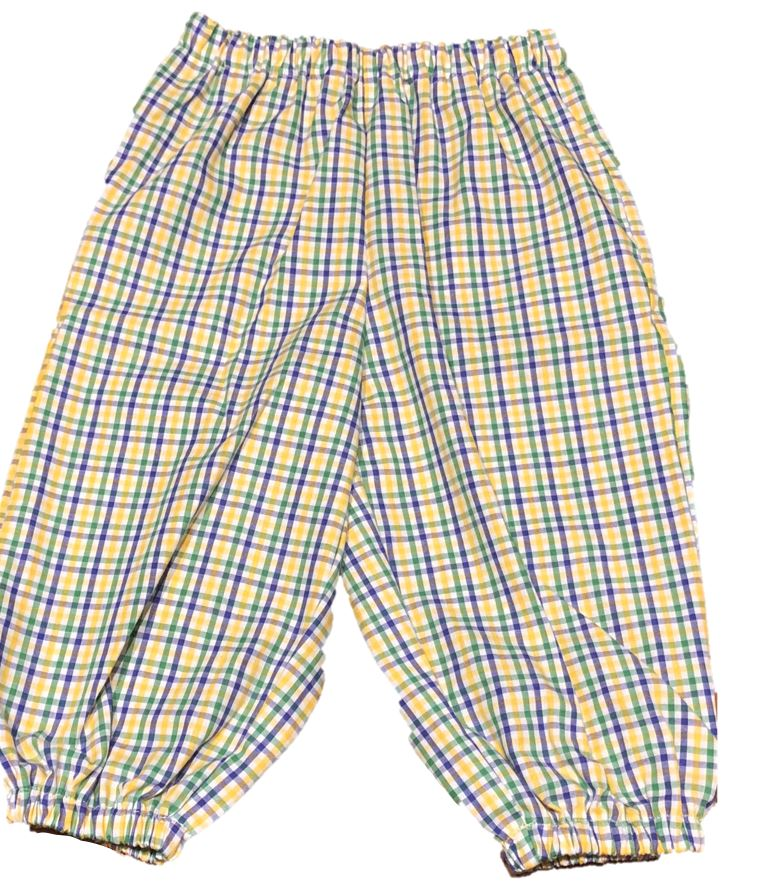 Boys Gingham Mardi Gras Bubble Pants