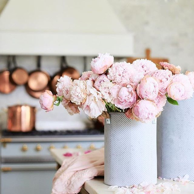 Here are some peonies to brighten your Monday.  #stellar #remodel #design #remodel #mondaymood #flowers #beautiful #pink #monday #remodeling #charlottesville #virginia #va #uva #copper #kitchen #inspo