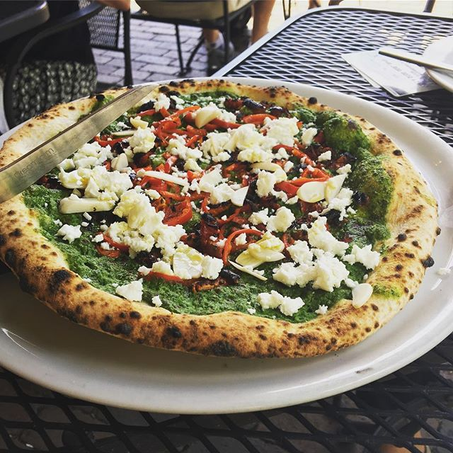 What a beauty! Thanks @lampo_pizza  #charlottesville #friday #lunch #virginia #pizza #uva