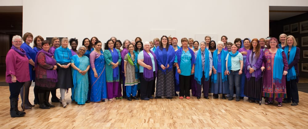Sacred Sounds Women's Choir at The Whitworth as part of MIF15. Photo: Ray Chan for Manchester International Festival.
