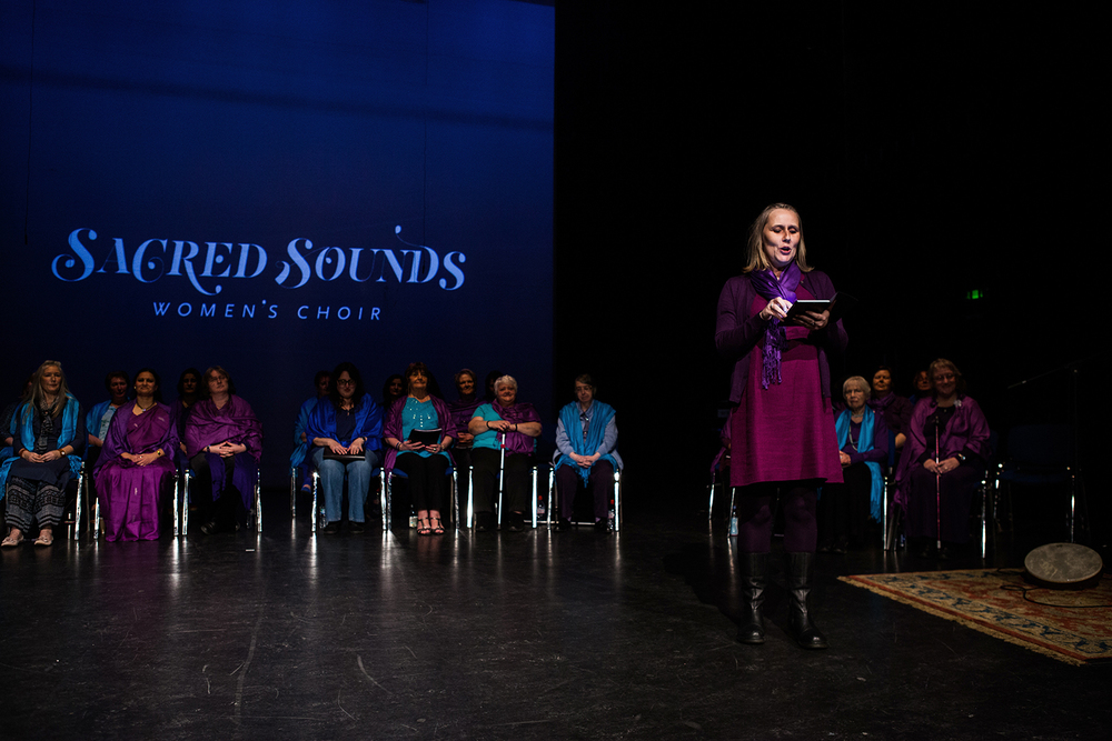 Beth Allen, Artistic Director of the Sacred Sounds Women's Choir Photo: Michela De Rossi
