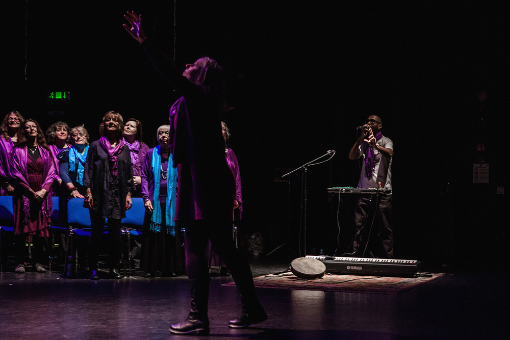 Sacred Sounds Women's Choir performing 'Birds for Air', a vocal soundscape with Jason Singh Photo: Michela De Rossi