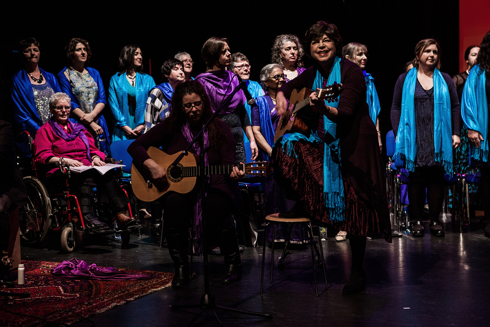Sacred Sounds Women's Choir performing 'The Earth Resounds in Me' Photo: Michela De Rossi