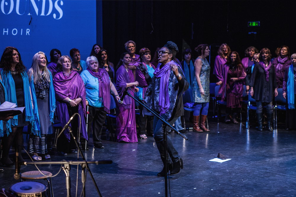 Audrey Mattis leading the Sacred Sounds Women's Choir Showcase Event Photo: Michela De Rossi