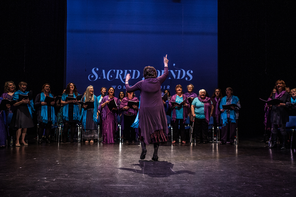 Carol Jason leading the Sacred Sounds Women's Choir Showcase Event Photo: Michela De Rossi