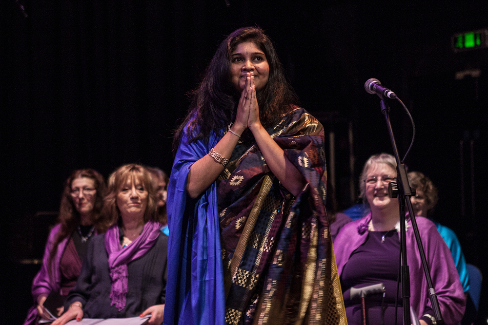 Madhu Tanjorkar at the Sacred Sounds Women's Choir Showcase Event Photo: Michela De Rossi