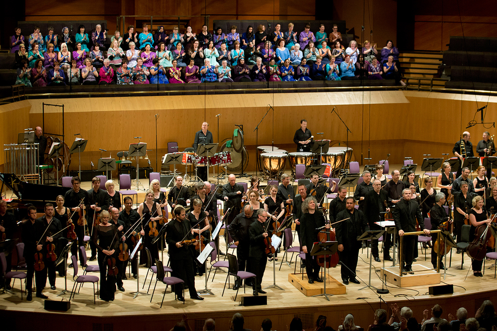 Sacred Sounds Women's Choir at the MIF13 Sir John Tavener Concert at The Bridgewater Hall — 7 July 2013 Photo: Jon Super for Manchester International Festival