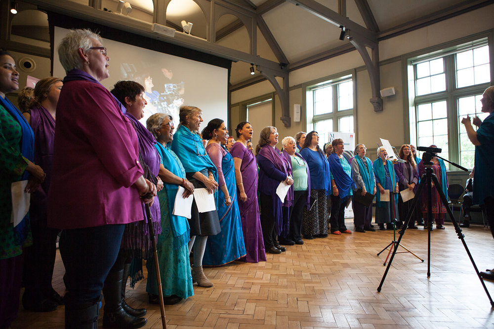 Sacred Sounds Women's Choir performing at the MIF15 Volunteers Launch Event Photo: Ray Chan for Manchester International Festival