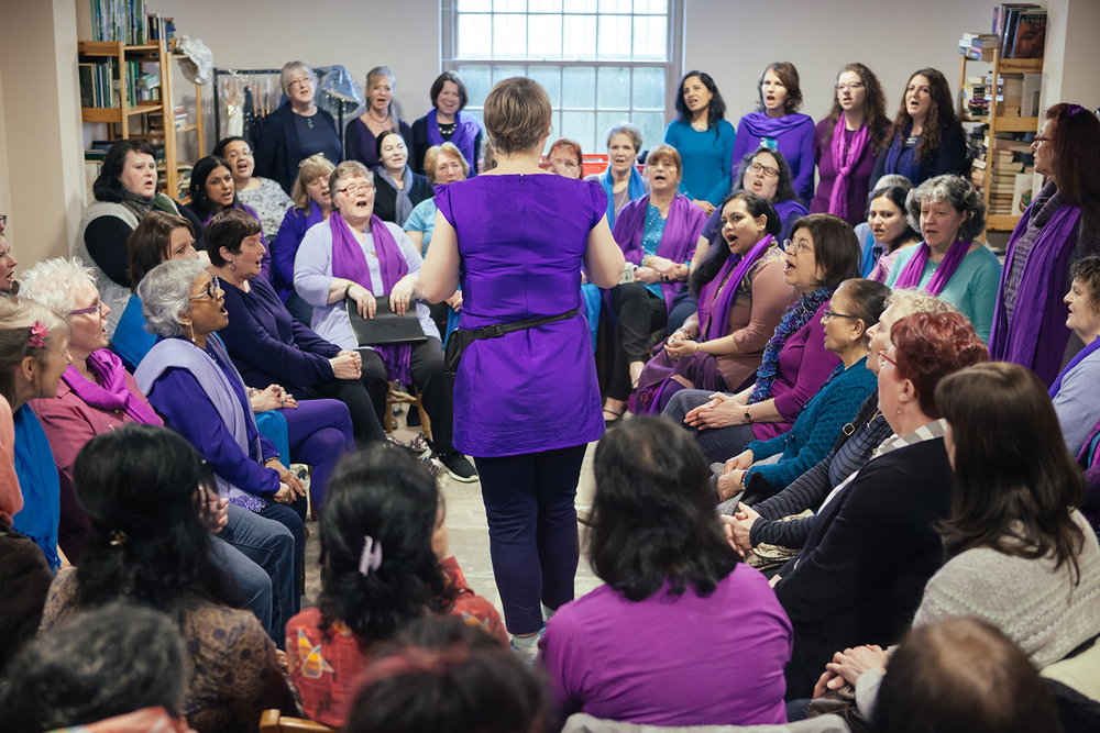 Sacred Sounds Women's Choir workshop celebrating International Women's Day 2016 at Elizabeth Gaskell's House Photo: Ray Chan