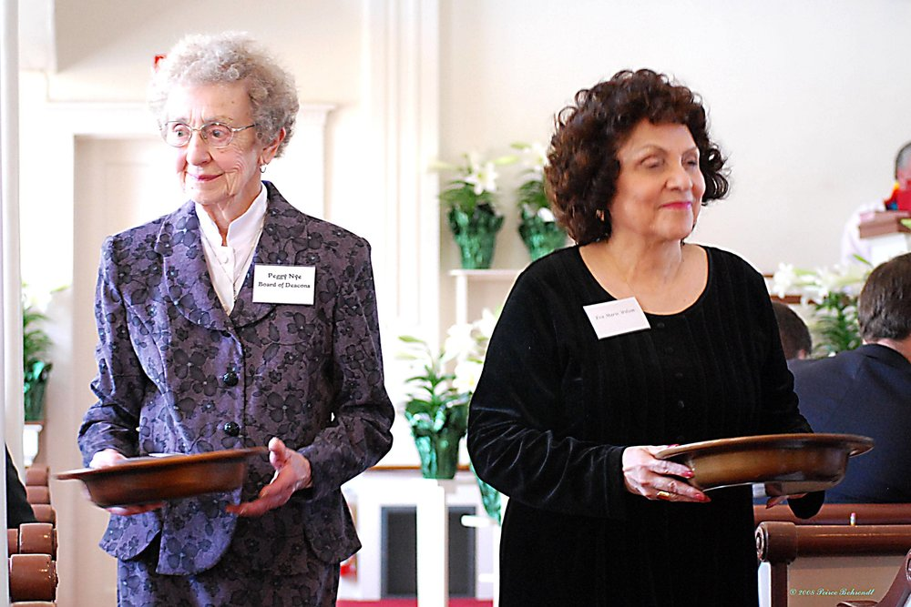 United Church of Christ, Southbury Members Collect Offering
