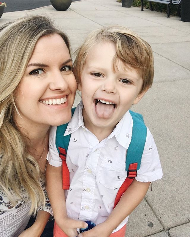 This morning was Mason's first day of preschool! This mama is feeling all the emotions today... But so proud of my sweet, silly boy, who is growing up WAY to fast! 💙 #mamasboy #firstdayofschool