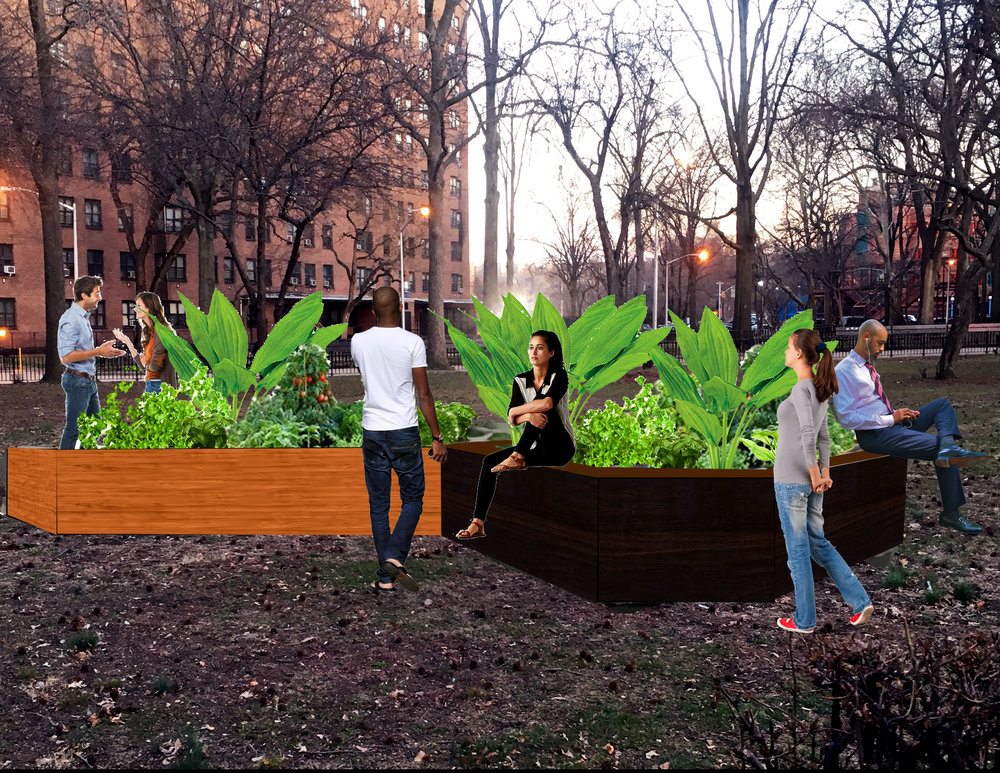 Outer Seed Shadow x Asha Hanna -Dyckman Houses - Public Art Installation functions as garden