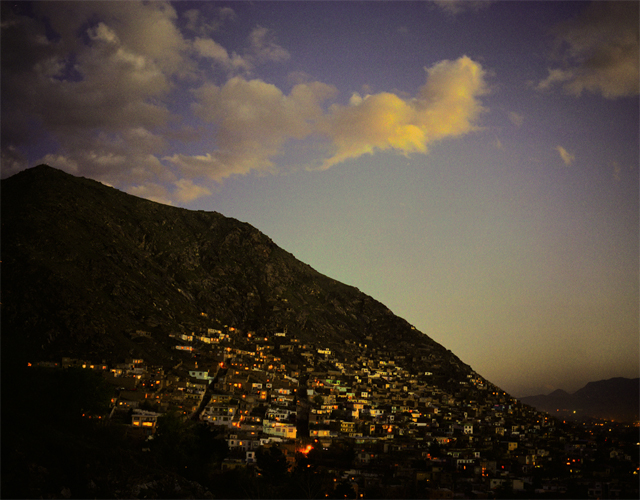 City of Kabul at dusk