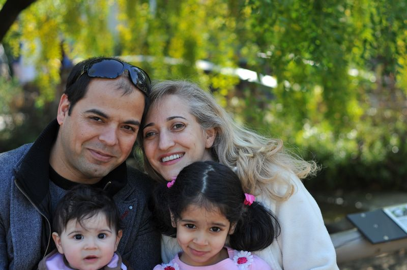 Fariba and her family, Naeem, Fariba, Andisha (9 months) and Bonoo (4 years) in Palo Alto - 2012