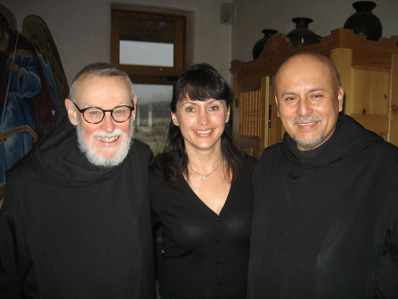 Brother Bernard, me and brother Frances after the meal