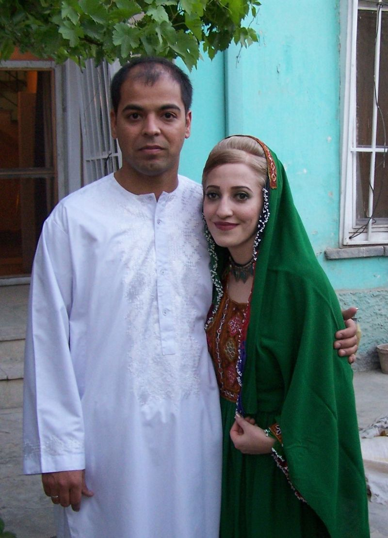 Our nikah (wedding) in Kabul at our Taimani home in 2007