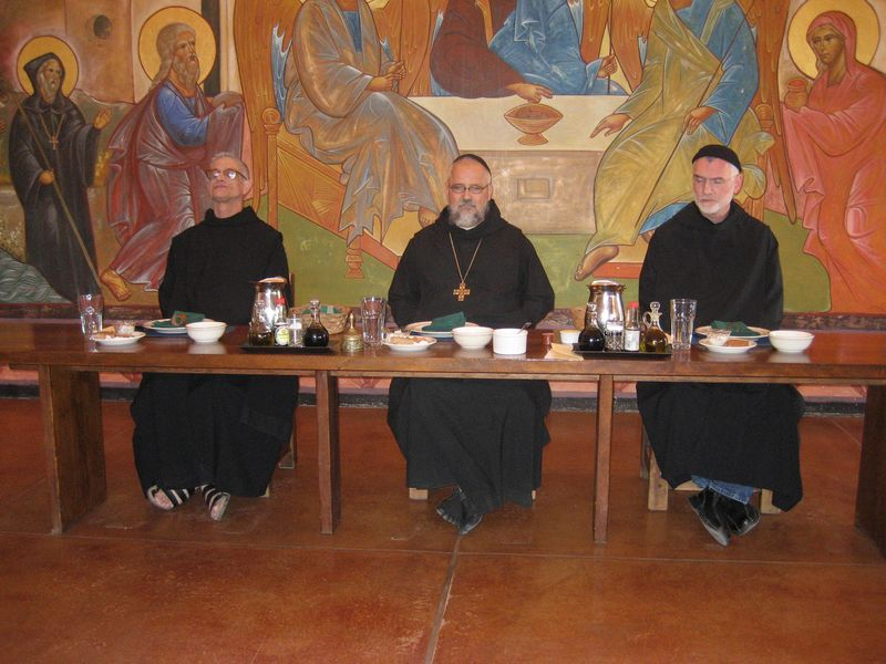 Father Joseph Gabriel, Abbot Phillip and brother James