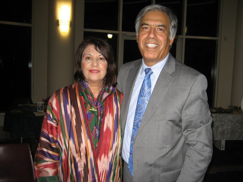 Najia Karim and her husband Mo Qayoumi, President of San Jose State Universit