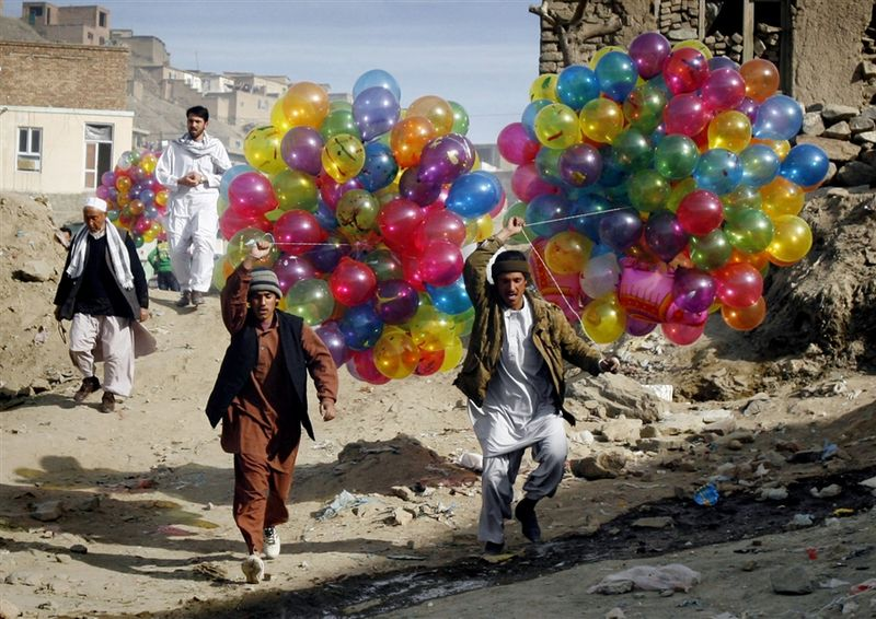 The highlight of my Nowroz celebration was to get a few colorful balloon