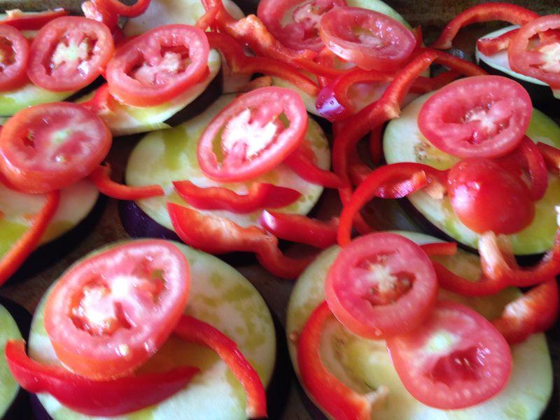 Eggplant,Tomatoes&Pepper