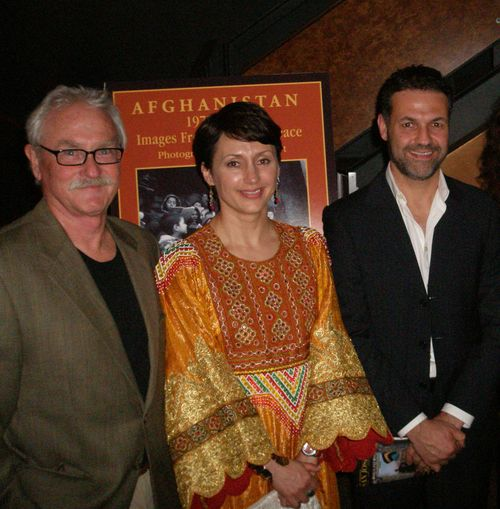 Photographer Joe Hoyt, Humaira (me)  and Khaled Hosseini at opening night of The   Kite Runner   the play