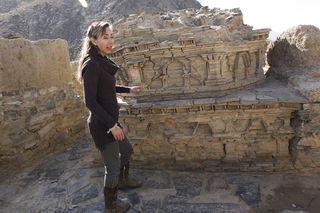 Dr. Laura Tedesco visits Tepe Kafiriat in Mes Aynak, Logar Province, Afghanistan