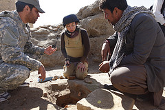 Dr. Laura Tedesco at an excavation in Afghanistan
