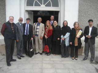 Our delegation in front of Kabul Museu