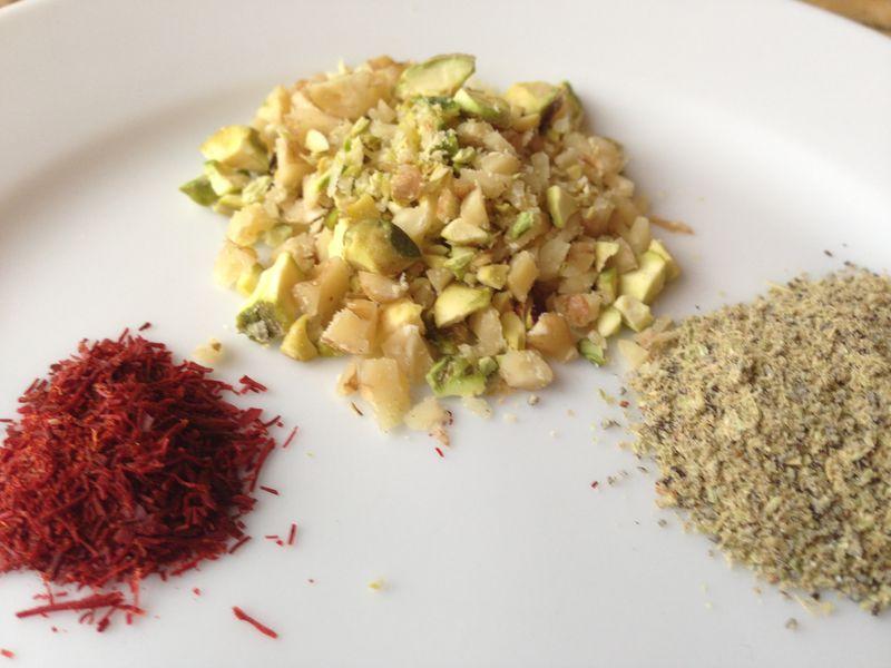 Nuts,Cardamom&Saffron
