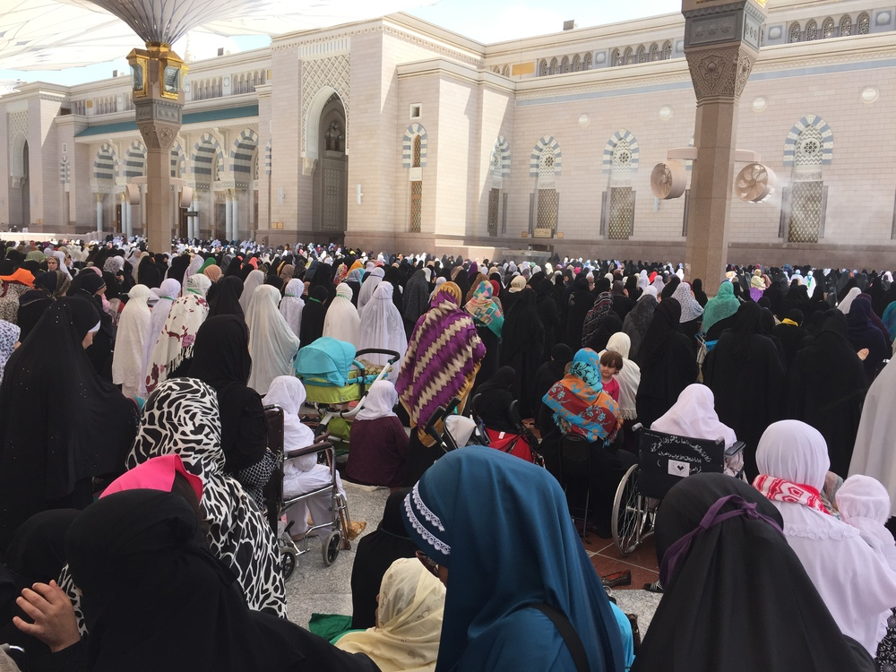 Women at Friday prayer.