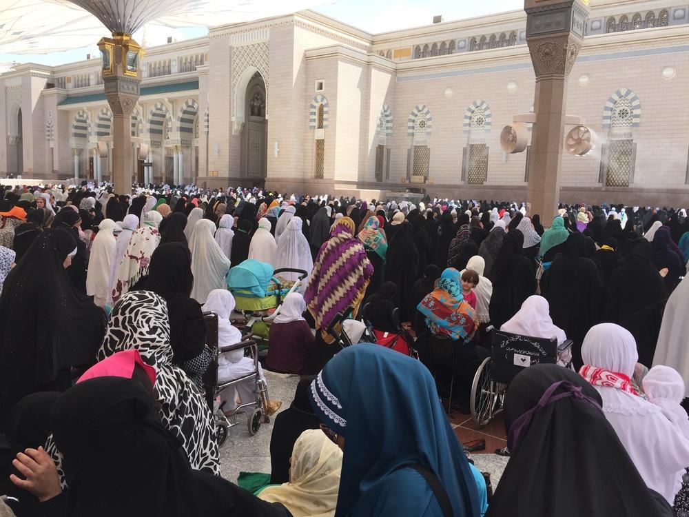 Women at Friday prayer.
