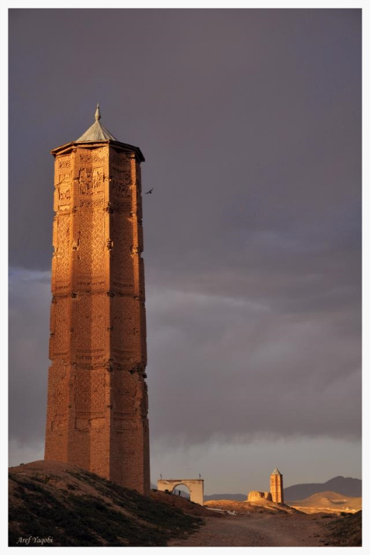 Historic Ghazni towers. Photo by Aref Yaqoubi