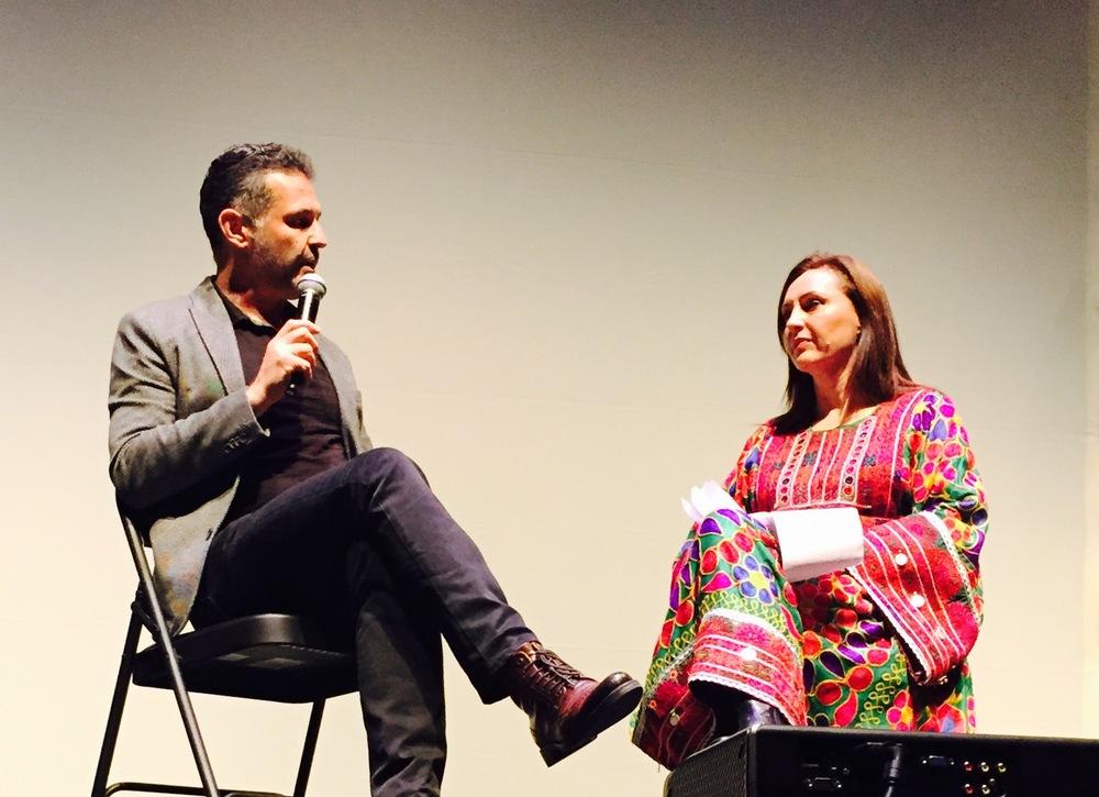Humaira Ghilzai and Khaled Hossesini at the New Strands Festival in San Francisco